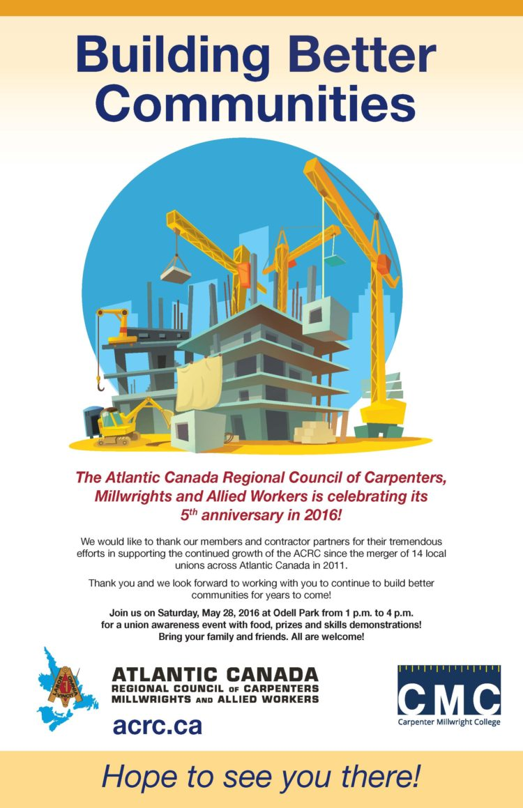 ACRC 5th Anniversary poster 17x11 Fredericton_blue